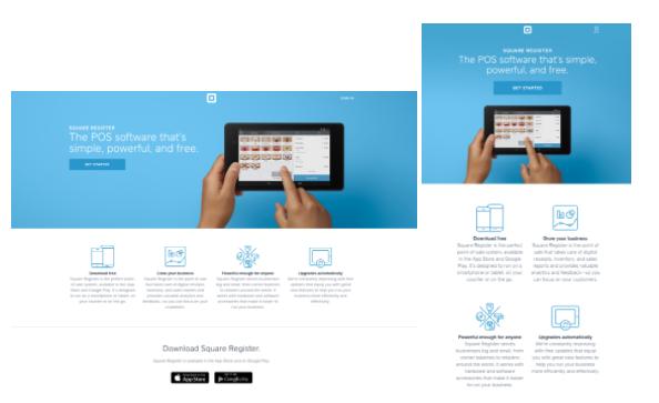 B2B webshop responsive design