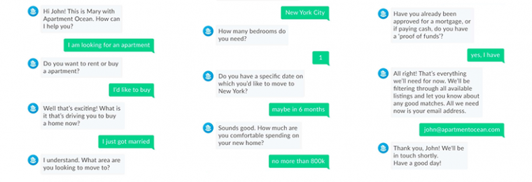 chatbots for customer service example