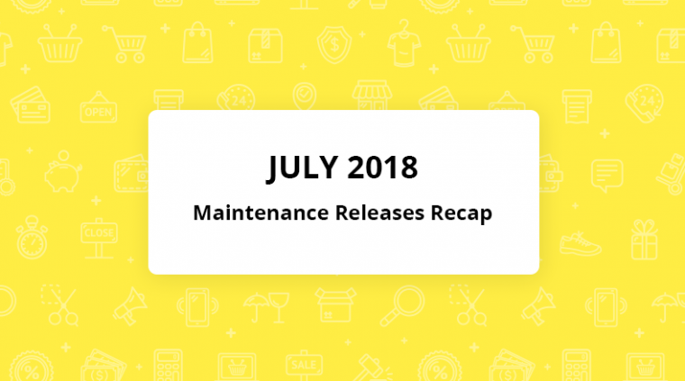 july orocommerce maintenance releases