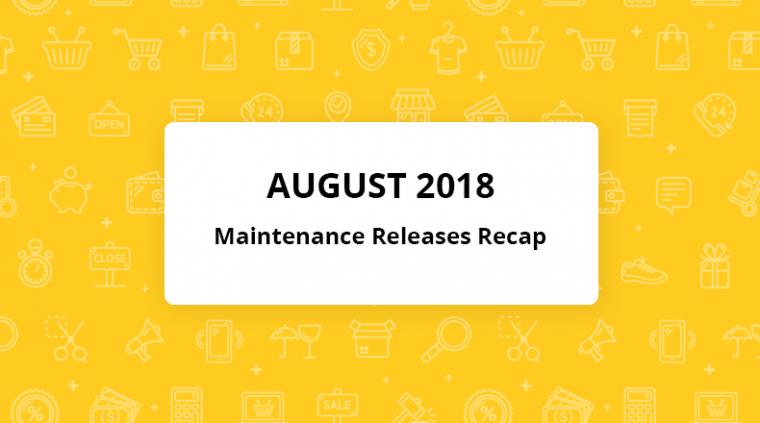 orocommerce august maintenance releases recap