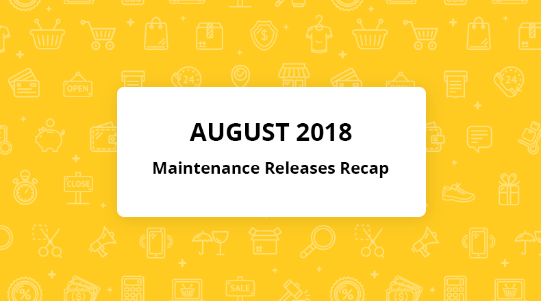 orocommerce august maintenance releases recap