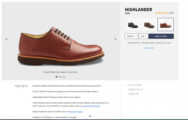 Samuel Hubbard Product Page