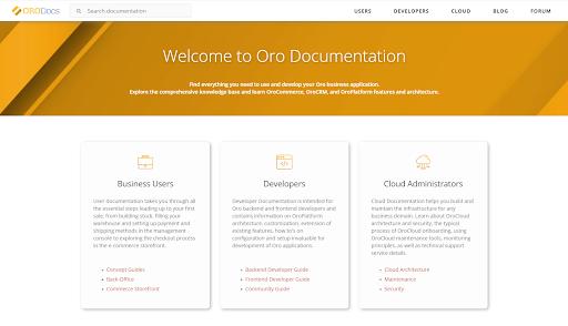 Oro Documentation