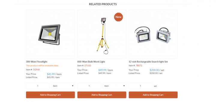 storefront related products widgets
