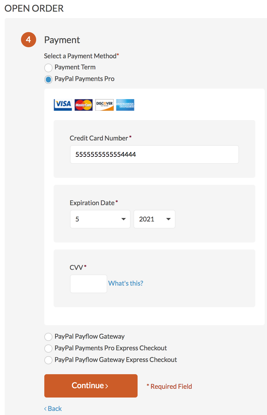 Payments at Checkout - OroCommerce