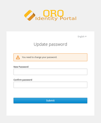 Update password flash message