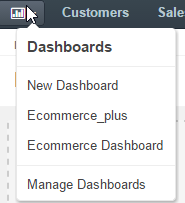 Switch to a dashboard by clicking the dashboard name