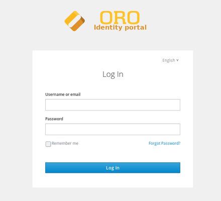 Login page to the public identity management