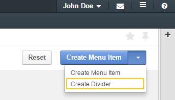Add a menu divider