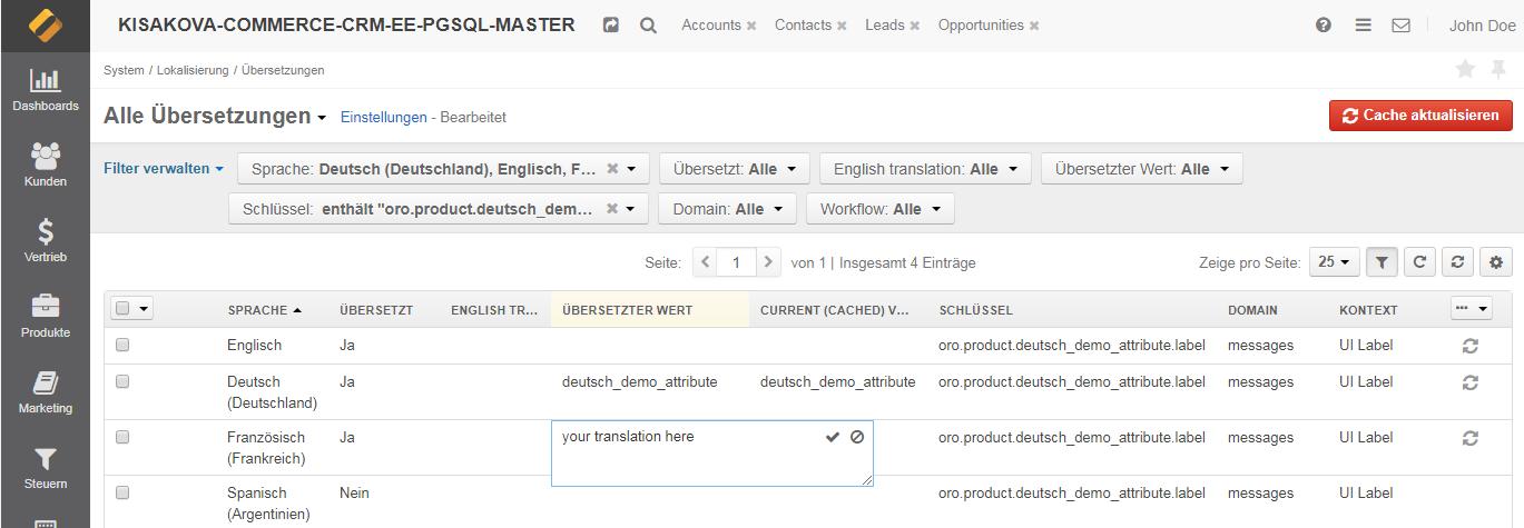 Translating the filtered label