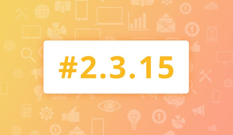 Maintenance Release for OroCRM Enterprise Edition 2.3.15
