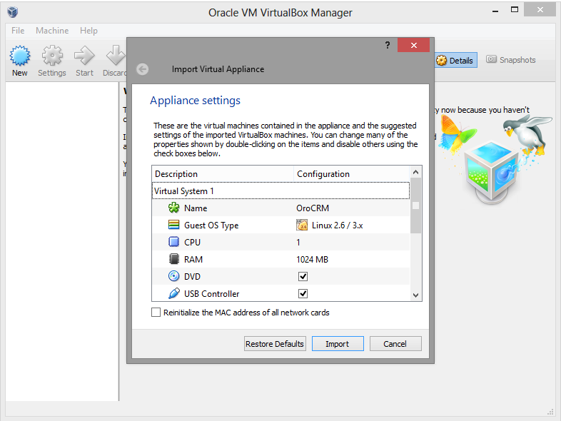 Virtual Machine with OroCRM - OroCRM - Open-Source CRM