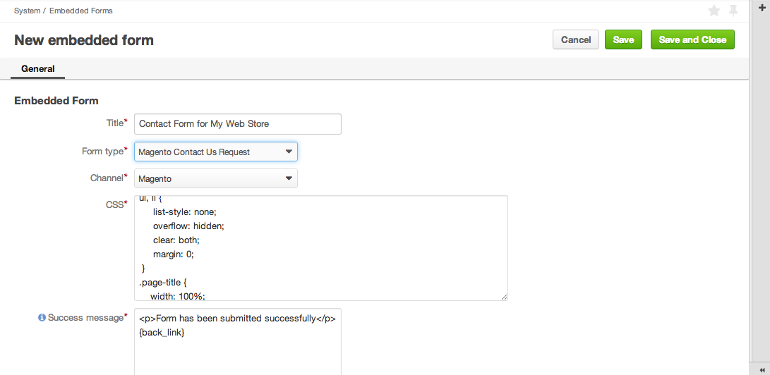 Open Source CRM Embedded Forms ecommerce