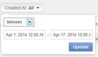 Editing a date filter