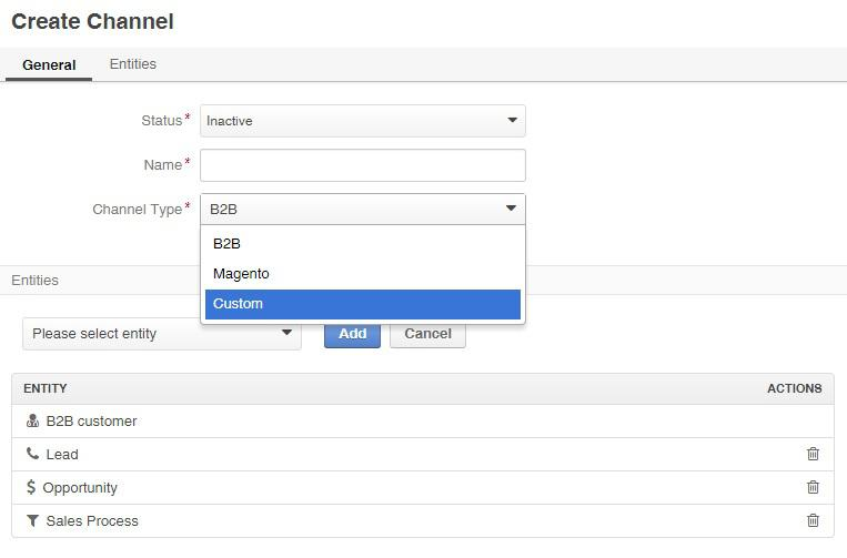 Create OroCRM Channel