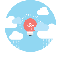 Cloud solution icon