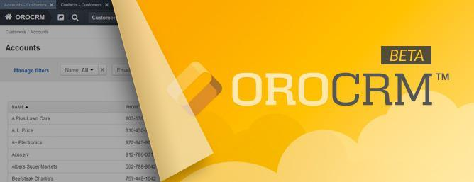 OroCRM and OroPlatform First Beta Release