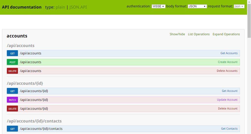 Web Services API - OroCRM - Open-Source CRM