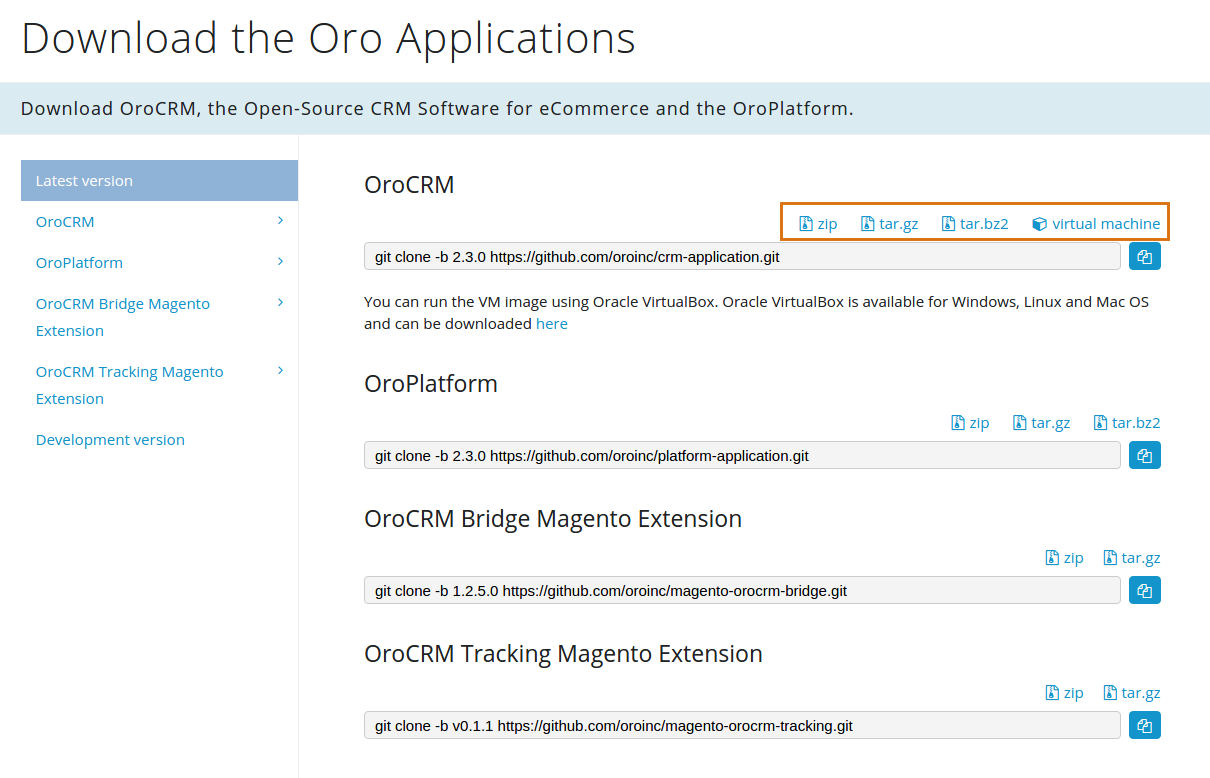 Get the Oro Application Source Code - OroCRM - Open-Source CRM