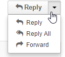 Selecting the default button for replying to emails
