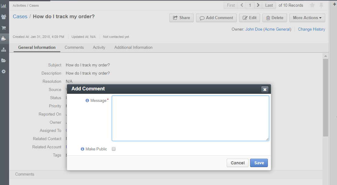 How to make a specific comment public in Zendesk