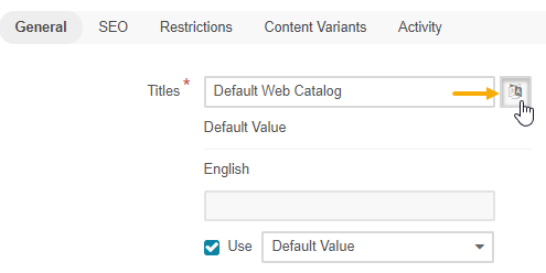 Translation icon on the edit content tree page
