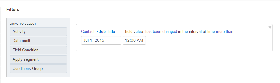 Select the date when the changes have / have not been applied