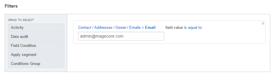 Add another field related under the related entities section