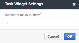 Task widget settings