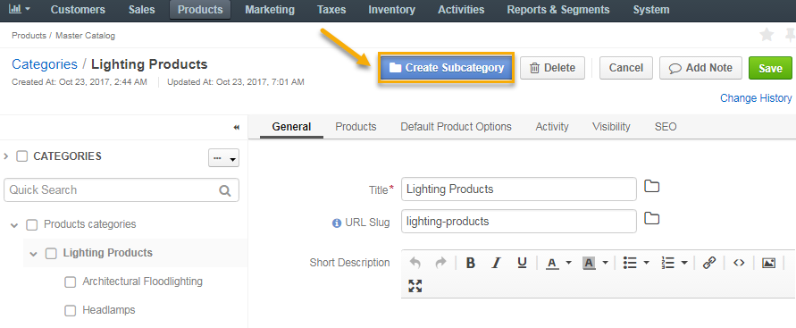 how to create a catalog