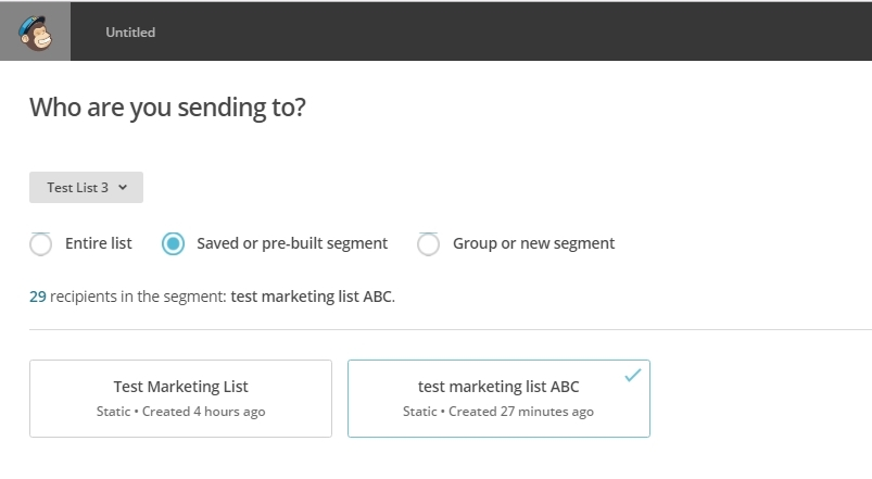 mailchimp how to connect lists to send campaign on signup